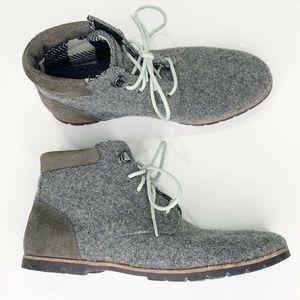 Woolrich Boots Sz 7.5 Beebe Ash Explorer Gray Wool